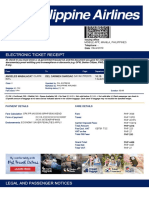 Electronic Ticket Receipt