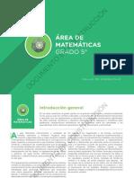 AREA DE MATEMATICAS 5°