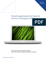 Growth opportunities for financial services