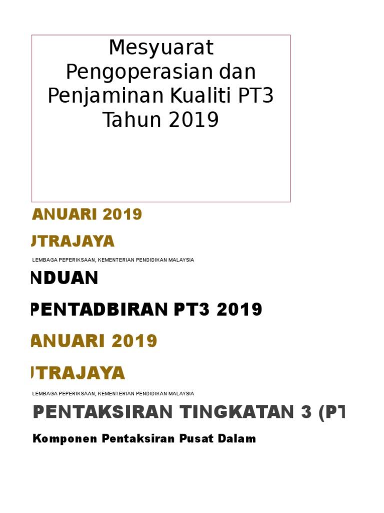 Panduan Pentadbiran Pt3 2019