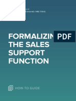 ANA Formalizing the Sales Support Function