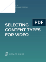 ANA Selecting Content Types for Video