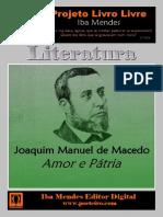 Amor e Pátria - Joaquim Manuel de Macedo