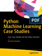 Book Python Machine Learning Case Studies