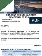 Proceso de Evaluaciones Semestrales 2018-10
