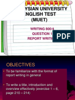 Intorduction to Report Writing u61 2019