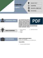 Curriculum Vitae Format (Recuperado)