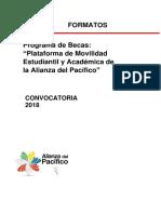 FORMATOS Alianza Del Pacifico 2017