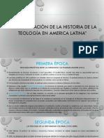 Periodificación de La Historia de La Teología