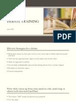 debate preparation and training
