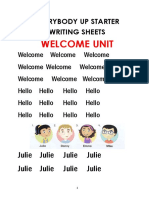 Everybody Up Starter Writing sheets