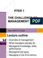 Chapter 1 the Challenge of Management