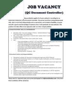 New QC Doc Controller - Job