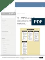 17 _ PMP ®. Areas de conocimiento PMI® . Recursos Humanos. _ _ NC Arquitectura