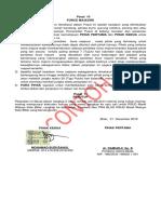 Contoh Pemasangan Materai Pada Kontrak Kerja Non Pns