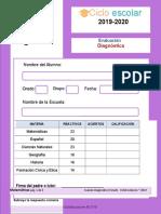 Examen Diagnostico Sexto Grado 2019-2020