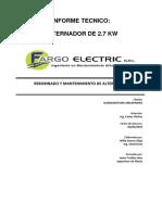 Ot 2383 Its Alternador 2.7kw Buenaventura
