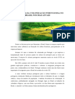 A Influência Da Colonização Portuguesa No Brasil Nos Dias Atuais