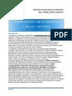 Presentacion de La Materia Calculo Vectorial
