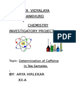 Chemistry Investigatory project Class 12 by Arya Hirlekar