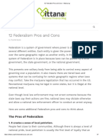 Pros and Cons of Federalism