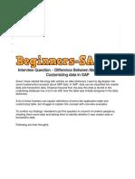 Diffrent Data Types in SAP Basics