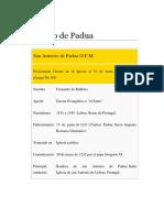 BiografiaAntonio de Padua