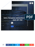 ▷ Zydra_ Recuperar contraseña de archivos .RAR .ZIP
