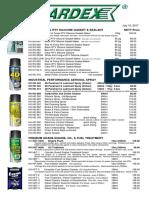 A-17-007 HARDEX Silicone & Motor Oil