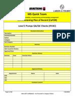 Level 2 M020 Pumps QA-QC Checks