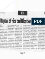 Philippine Daily Inquirer, Sept. 10, 2019, Repeal of rice tariffication law sought.pdf