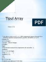 Tipul Array