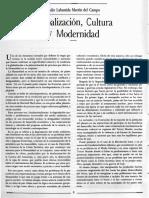 Julio Labastida y Martin Del Campo - Globalización, Cultura y Modernidad