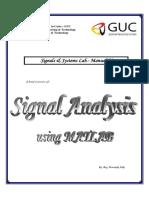 Signal Analysis using MATLAB