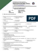 Soal Bahasa Indonesia Kelas X-1