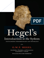 Hegel's Introduction to the System Encyclopaedia Phenomenology and Psychology