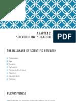 Chapter 2 Scientific Investigation