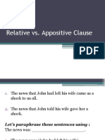 Relative vs. Appositive Clause