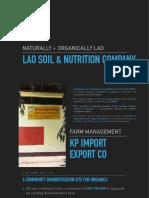 Lao Soil & Nutrition Company whitepaper