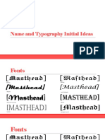 Name and Typography Ideas