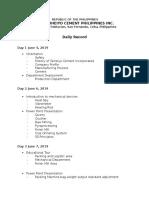 Lumansang Daily Report TCPI - Copy