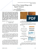 Determination of Tree Annual Rings with  Signal Analysis