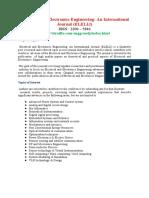 Electrical and Electronics Engineering an International Journal ELELIJ