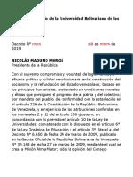 DECRETO Creación de la Universidad Bolivariana de las Comunas (UBC),2019.doc