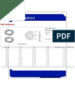 Washer-Flat Washers JIS B 1256