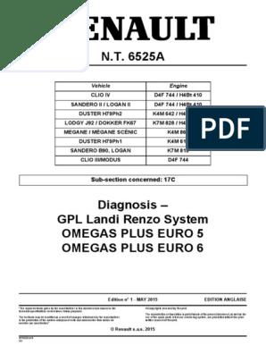 Gpl Landi Renzo System Renault 6525a Pdf Liquefied Petroleum Gas Electrical Connector