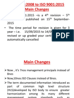Key Changes on ISO 9001:2015