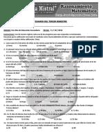 EXAMEN DE RAZ. MATEMATICO 5TO SEC - GM