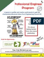 Professional Engineer Program 2019 Flyers