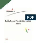 Toshiba steam turbine performance